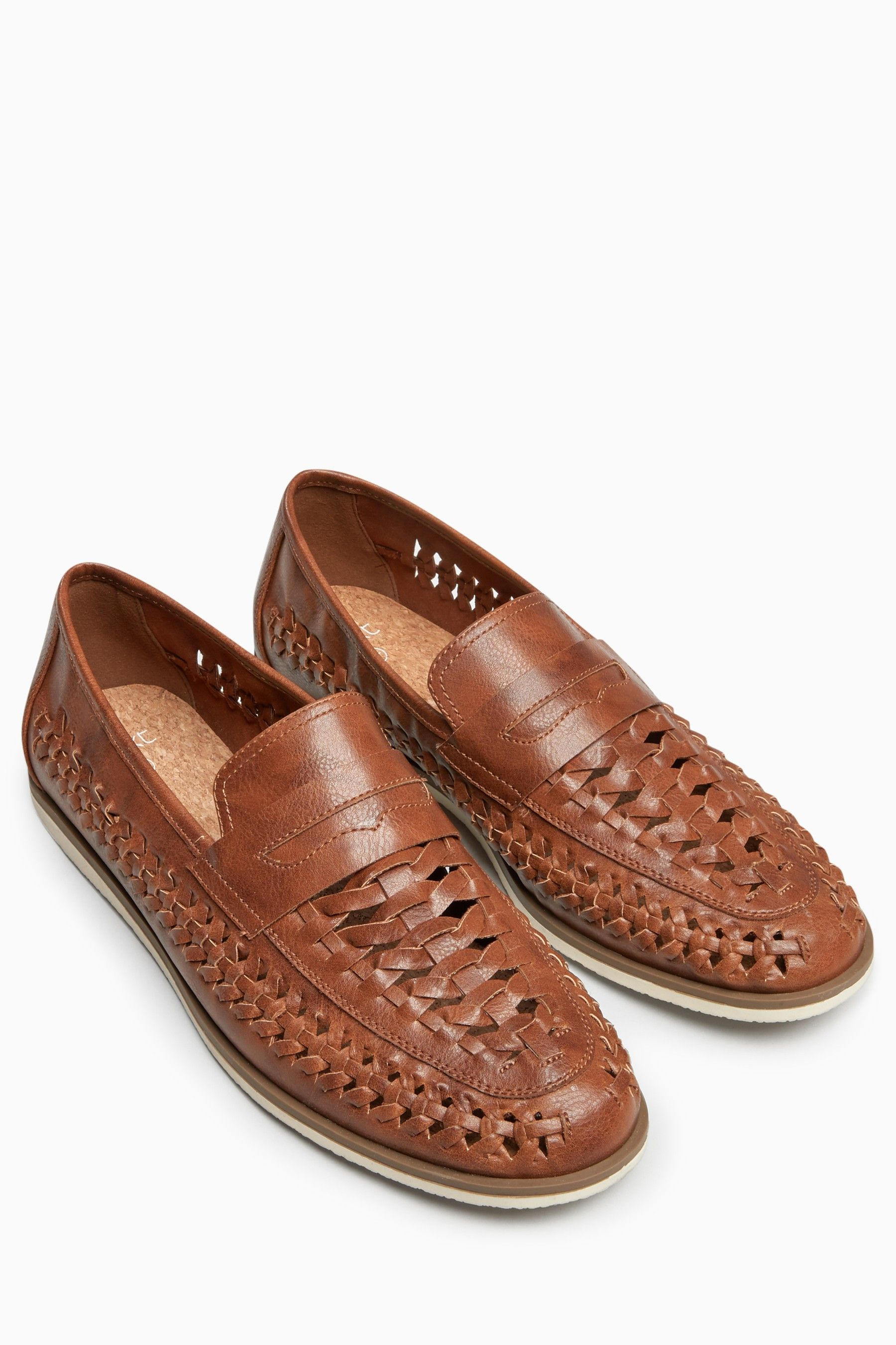 9512840e9ced0 Mens Next Tan Weave Loafer - Brown | real shoes in 2019 | Shoes ...