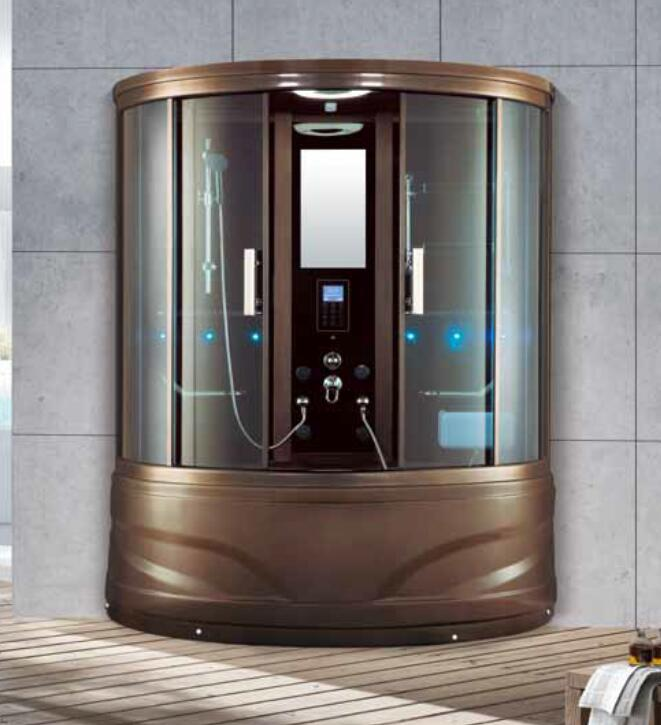 1500x1500x2250mm Double Person Bathroom Steam Shower Enclosure With Tv Dvd Mult Functional Computer Contr Steam Shower Enclosure Shower Enclosure Steam Showers