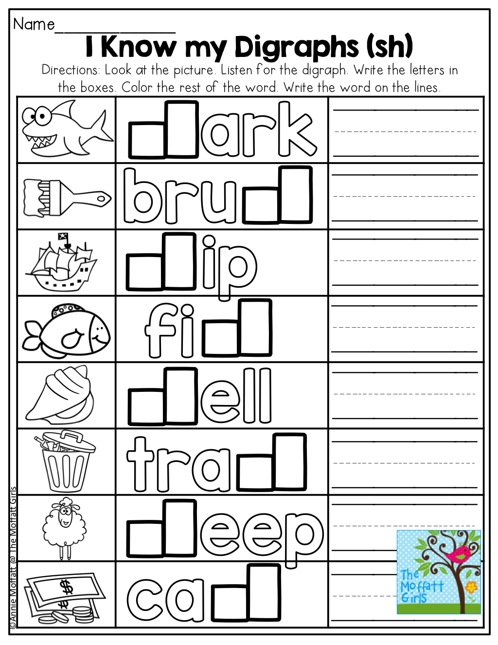 Tracing Worksheets Sh