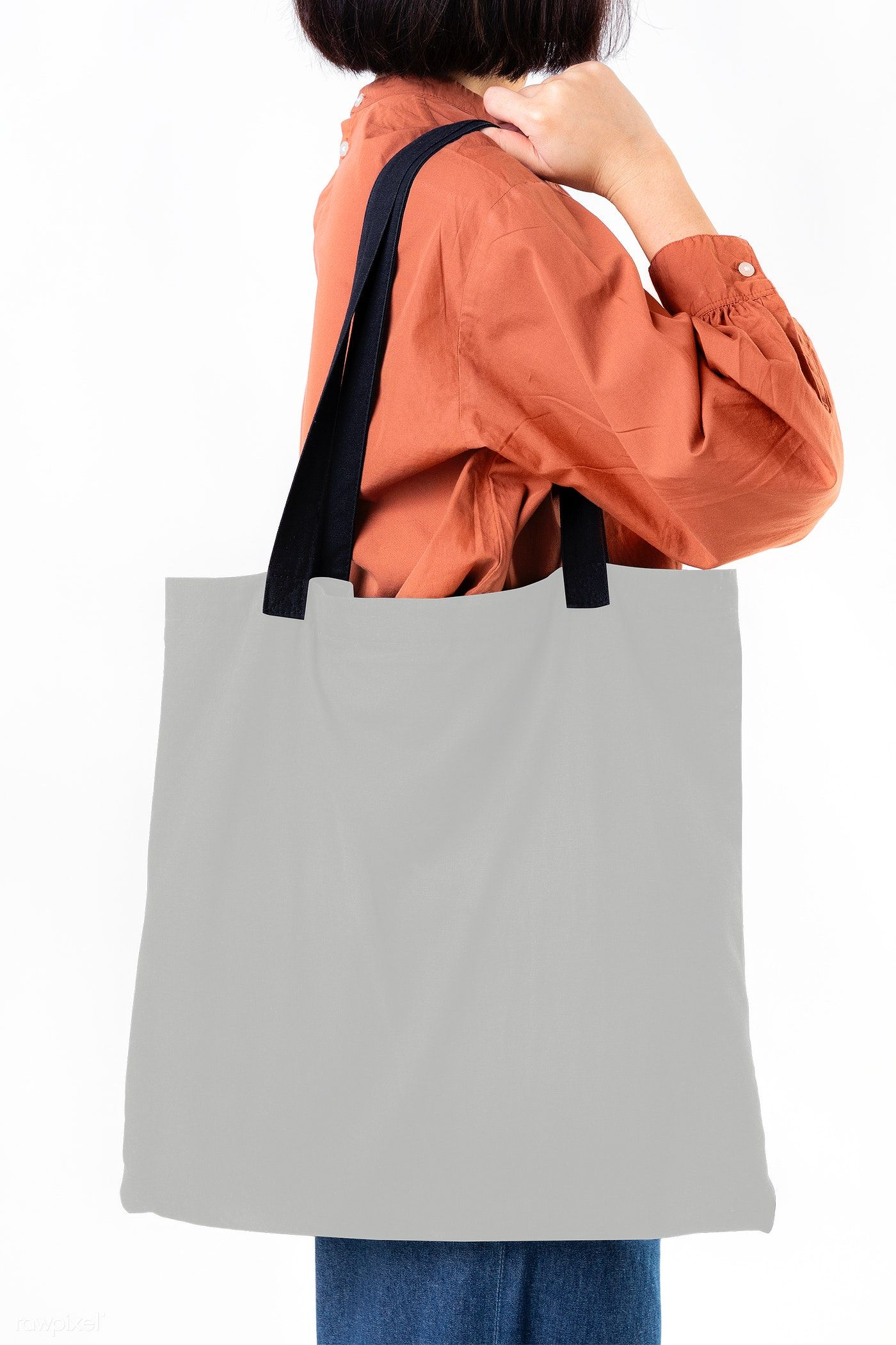 Woman With A Tote Bag Transparent Png Free Image By Rawpixel Com Mckinsey Tote Bag Blank Tote Bag Woven Tote Bag