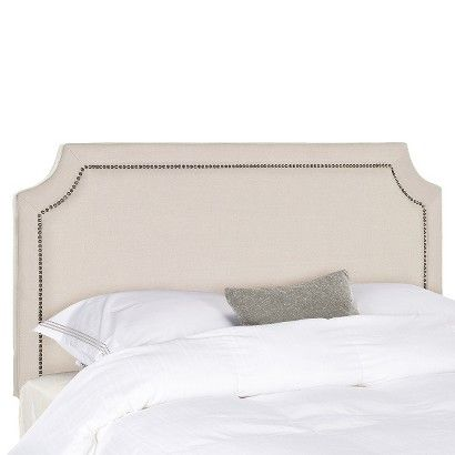 Clip Corner Nail Button Headboard Taupe Target With Images