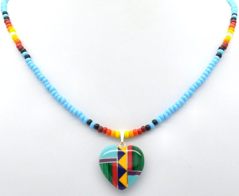 chero8001-traditional-seed-bead-necklace-with-gemstone-inlaid ...
