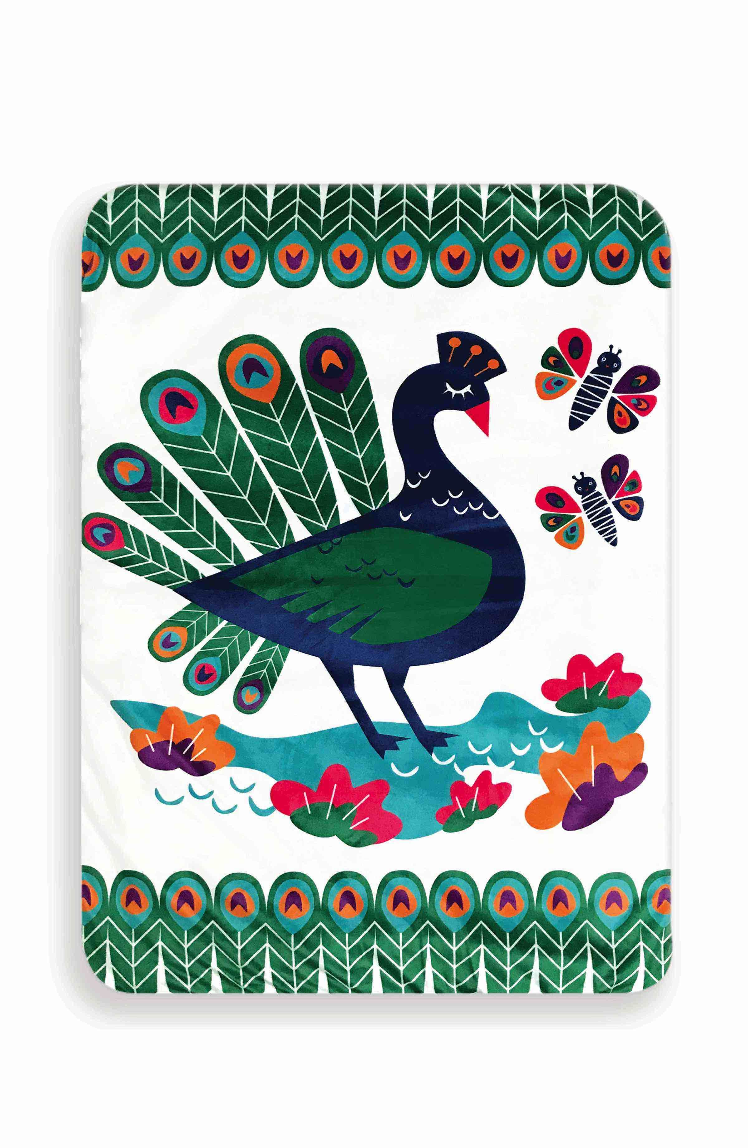 Limited edition peacock paradise play mat and activity toy set in