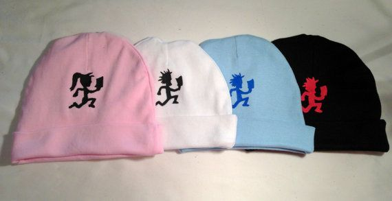 11e69bbac2743 0-12 mo custom made to order Hatchetman and Hatchetgirl baby beanie hats on  Etsy