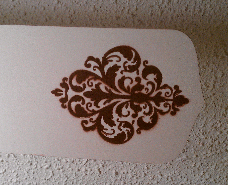 Stenciled Ceiling Fan Blade Diy Home Improvement Ceiling Fan