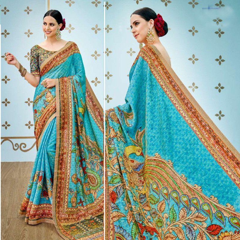Designer saree pakistani indian Bollywood KANCHIPURAM silk ethnic sari fancy