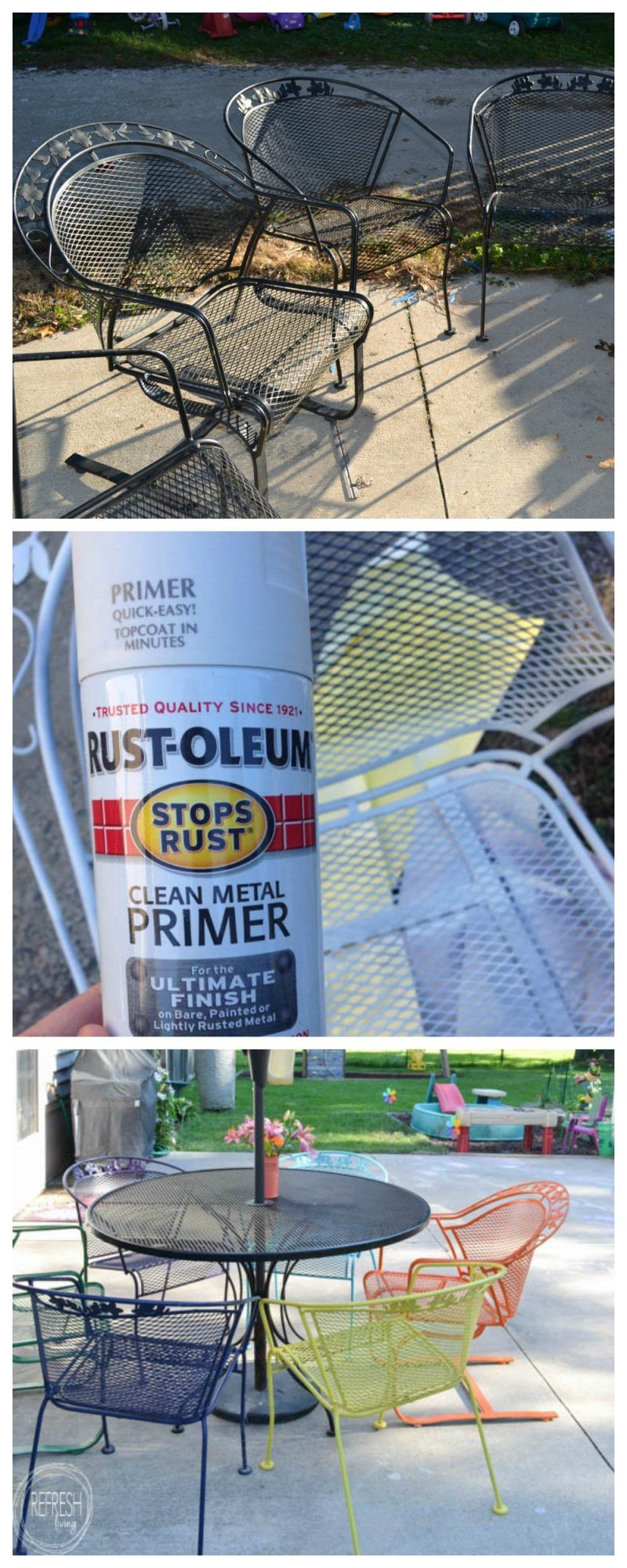 How to paint metal lawn furniture with images metal