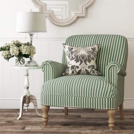 Dorel Living Jaya Accent Chair Green Stripe Products In