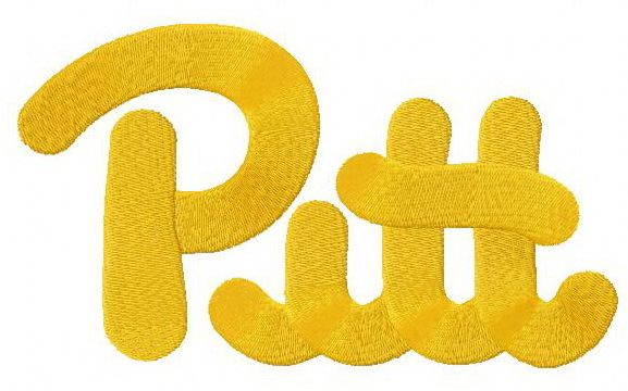 Pittsburgh Panthers logo 2 machine embroidery design. Machine embroidery design. www.embroideres.com