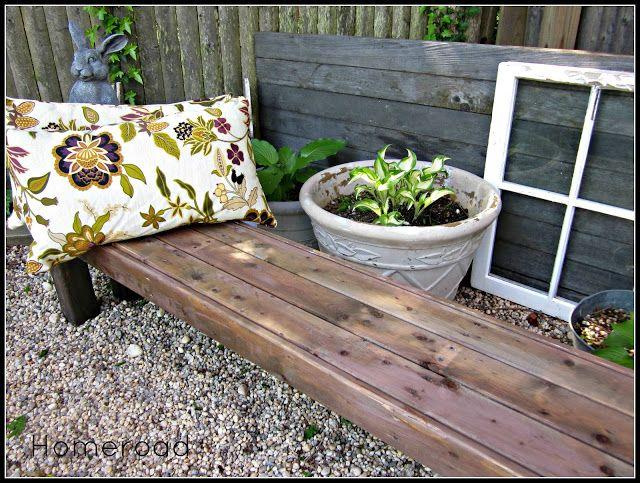 How To Make A Free Garden Bench My Creations Garden Pallet