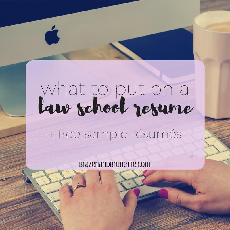 law school application resumes