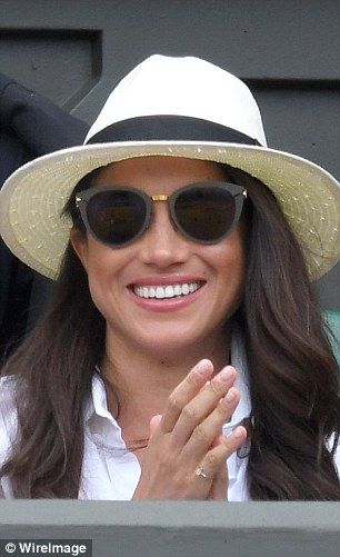 2d50d4ef6ed Meghan Markle attends day two of the Wimbledon Tennis Championships at  Wimbledon on June 28