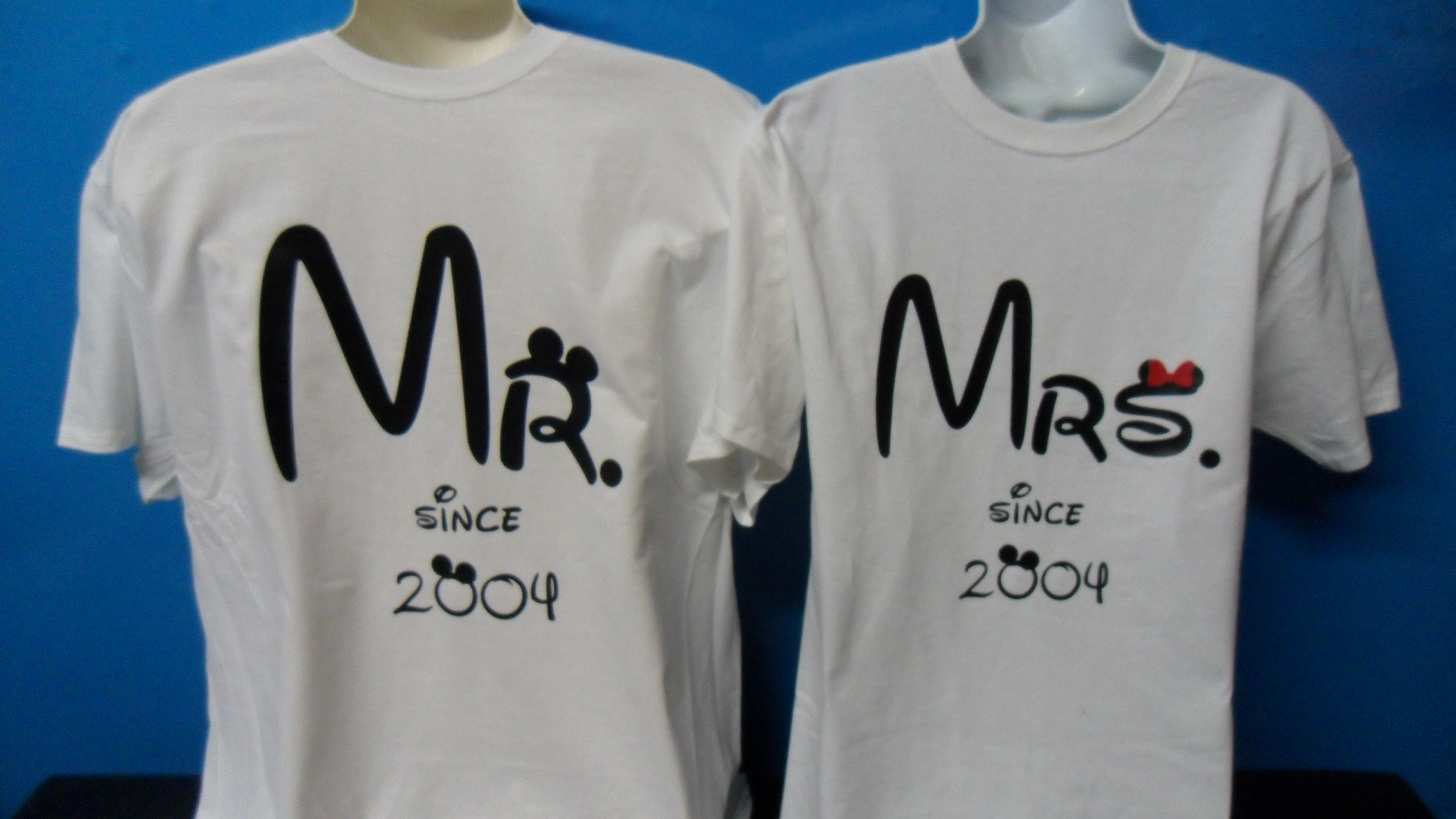 f74db626 Mr Mrs Since Wedding Date Matching Cute Couple Hoodies, Zip Up Hoodies,  Baseball Tees, T-Shirts and more, #MarriedWithMickey TM