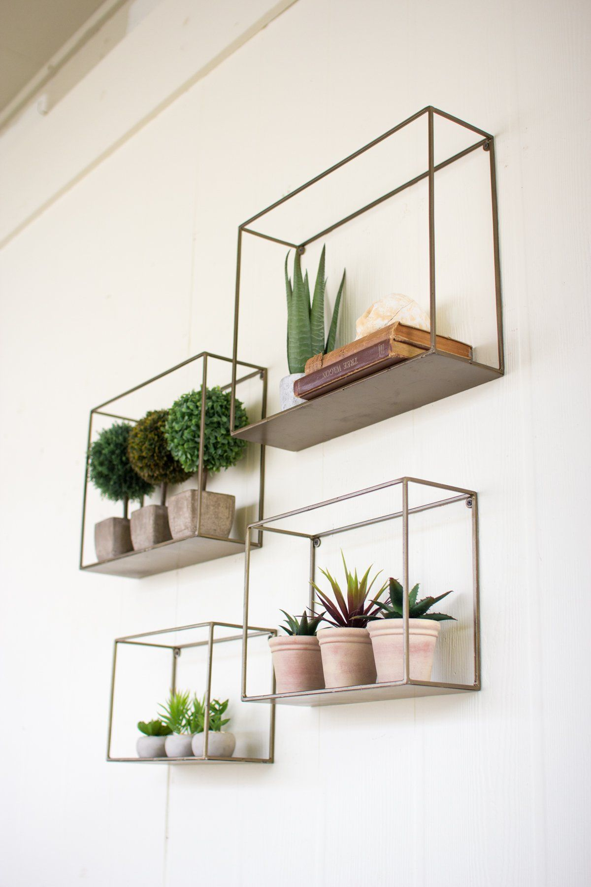 Set of four metal shelves dream home pinterest metal