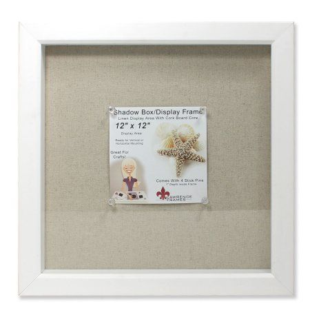Buy 12x12 White Shadow Box Frame Linen Inner Display Board At