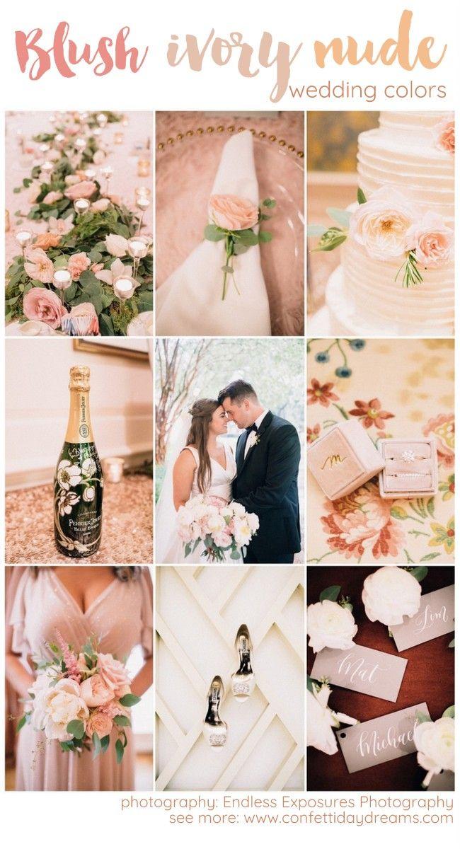 Adore This Elegant Blush Ivory Champagne Wedding Palette