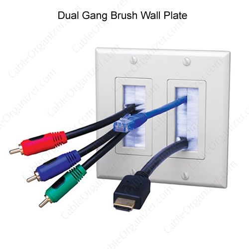 Brush Cable Exit Wall Plates Plates On Wall Media Room Design Wall Installation