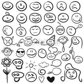 handgezeichnete smilies   smiley zeichnen, zeichnen, hände