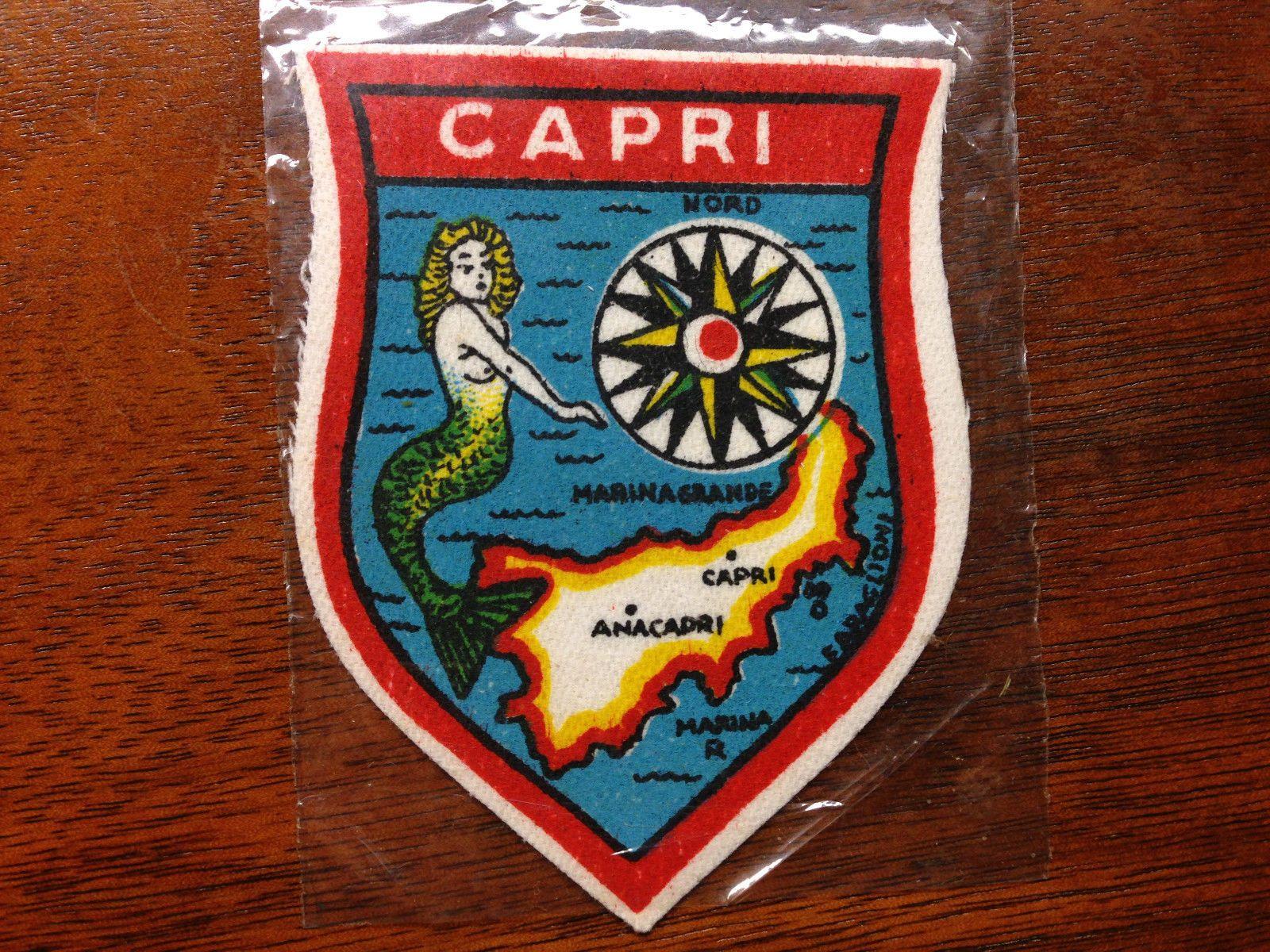 Vintage Italy Italia Italian Capri Anacapri Cybele Travel Souvenir Patch • $17.95 - PicClick