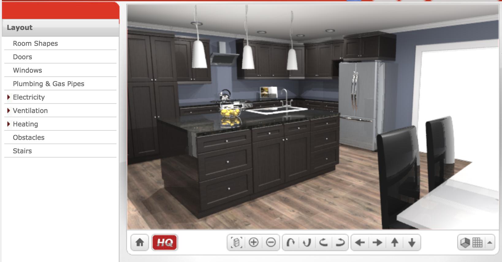 Home Hardware Free Kitchen Design Software User Interface