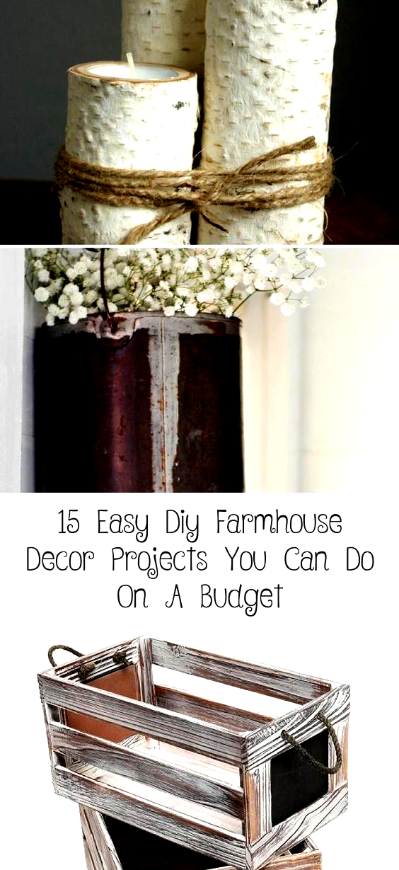 Looking for easy DIY farmhouse decor and furniture ideas that you can do on a budget? Then look no further. With these quick farmhouse style DIY projects, you can fill your home or apartment with farmhouse charm for cheap! #farmhouse #farmhousedecor #diy #diydecorToSell #diydecorMirror #diydecorDesk #diydecorGifts #diydecorForTeenRooms