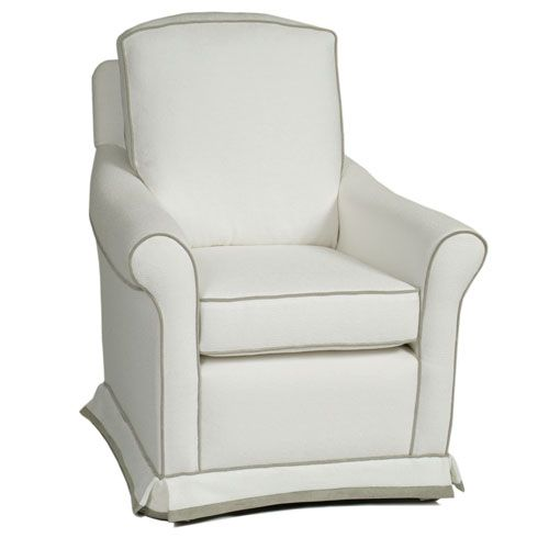 Montclair Glider In Choice Of Fabric From Poshtots Really Like This One For The Baby S Room But White With Red Trim