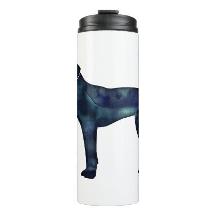 Plott Hound Black Watercolor Silhouette Thermal Tumbler   Zazzle.com