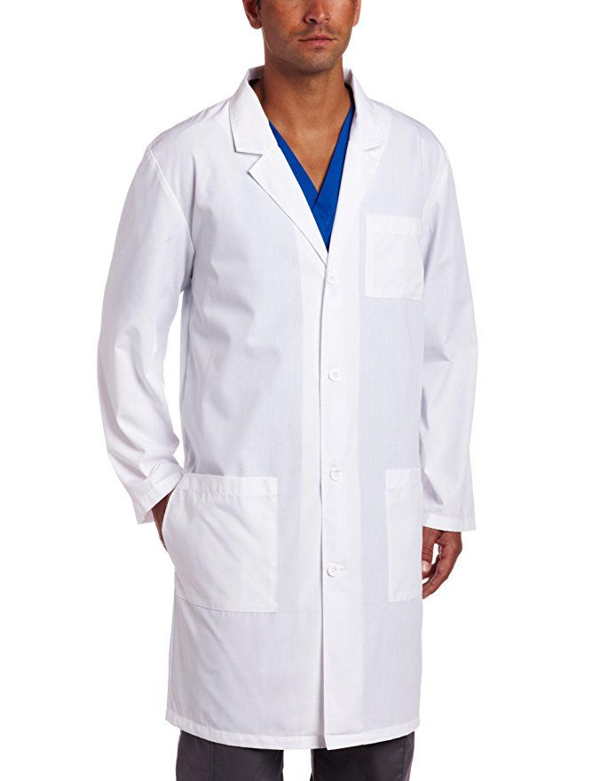 75f9701cd65 Dickies Everyday Scrubs Unisex 40 Inch Lab Coat,White,X-Small ...