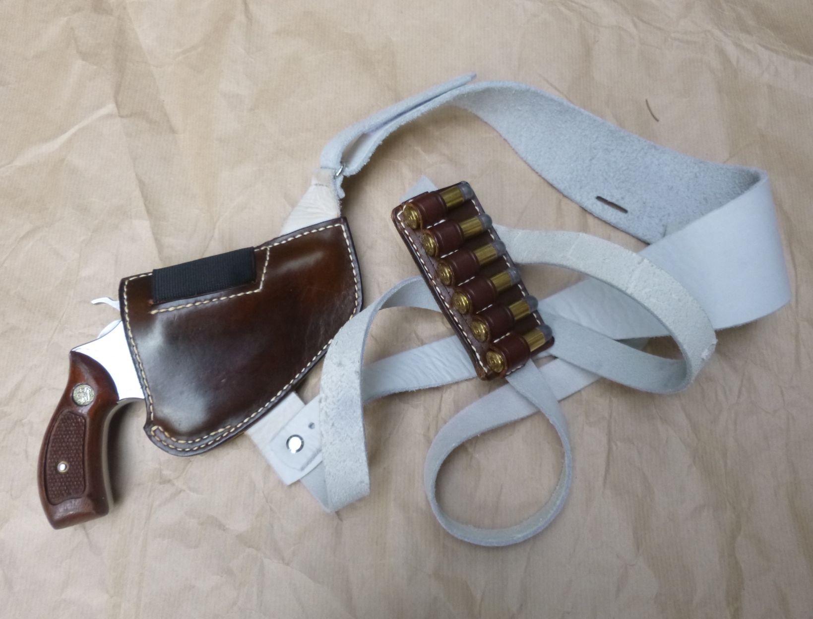 Custom replica of the Steve McQueen upside down shoulder holster rig ...