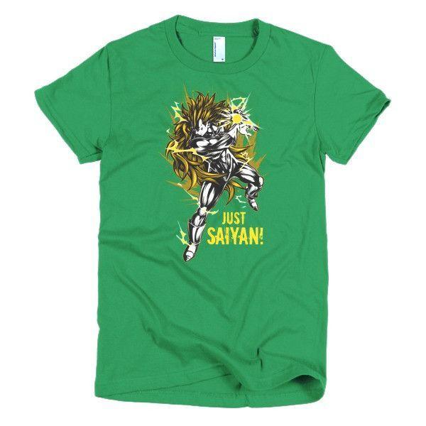 Super Saiyan Just Saiyan Girl Short Sleeve Shirt - PF00124WS