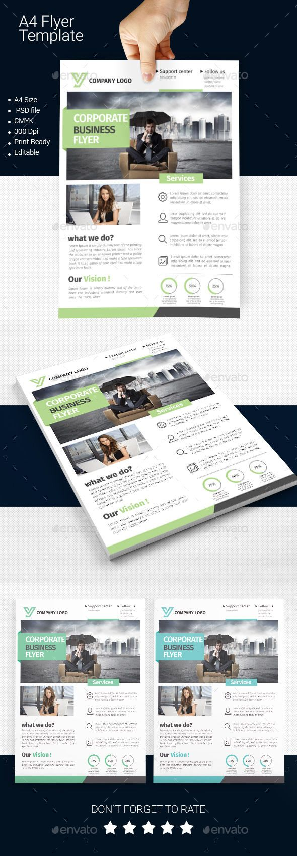 A4 Business Flyer Template Design Download Httpgraphicriver
