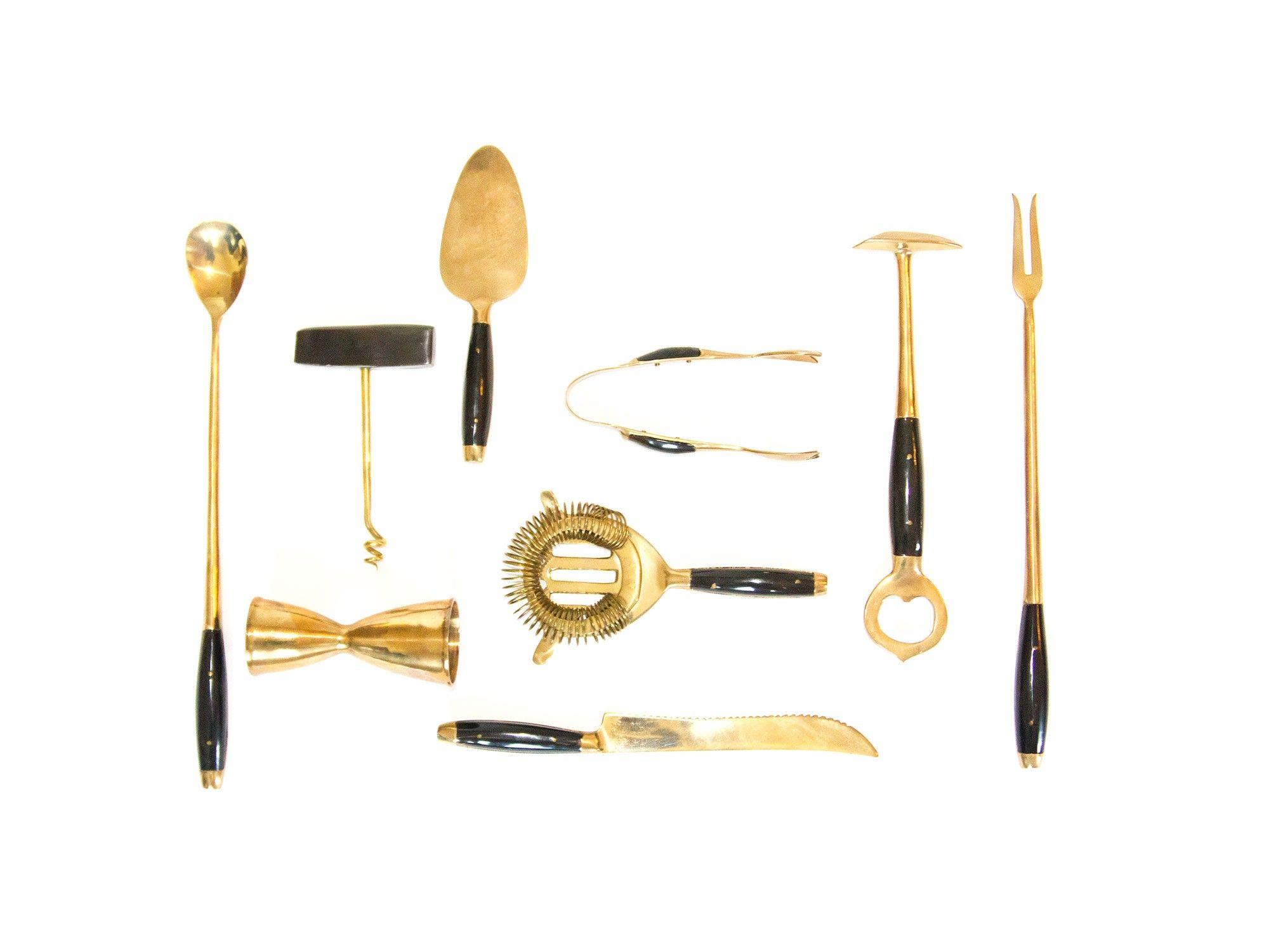 Wonderful Vintage Brass Bar Tools
