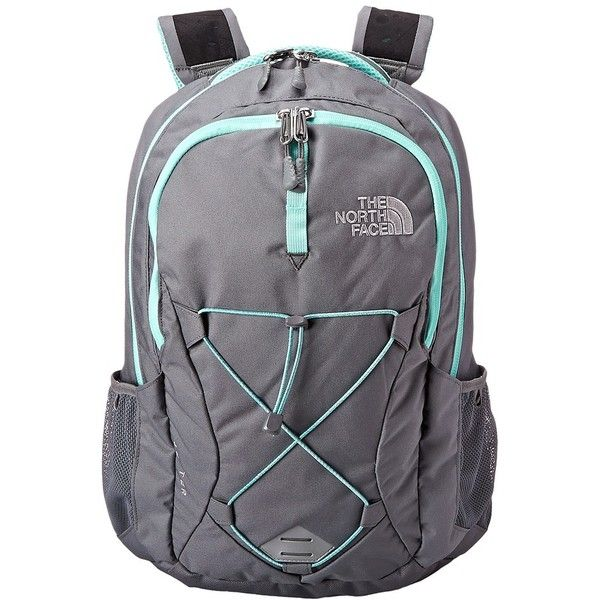 3ab1fcbe1df6 The North Face Women s Jester (Zinc Grey Surf Green) Backpack Bags ( 65) ❤  liked on Polyvore featuring bags