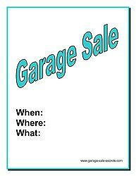 free printable garage sale flyer garage sale pinterest free