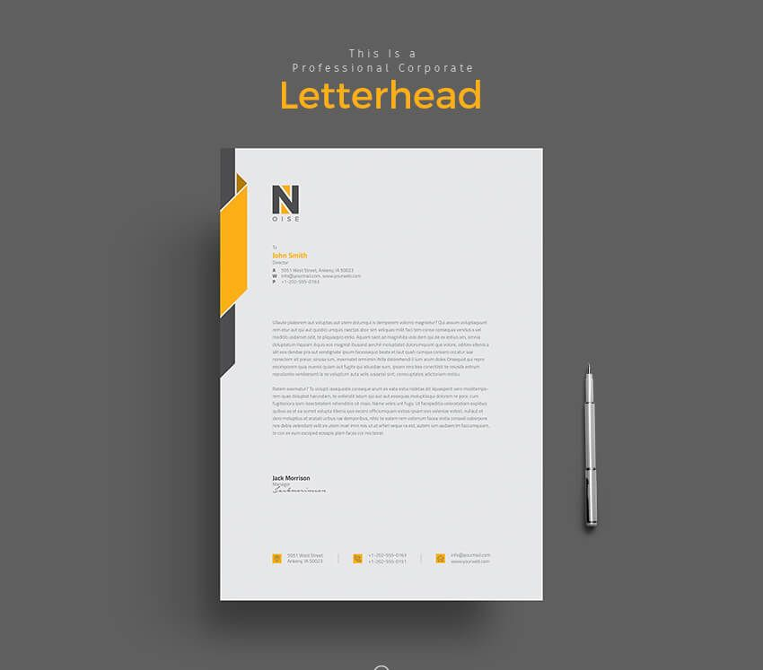 Tips For Creating Professional Letterhead  DesignLearn Adobe