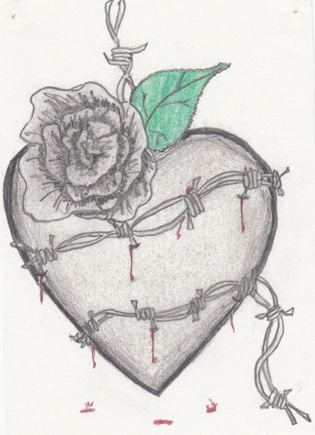 Barbed wire heart by ShShipping15.deviantart.com on @deviantART ...