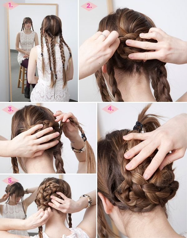 In The Thick Of It 3 Fancy Hairstyles For Thick Hair Diy Hairstyles Braided Bun Hairstyles Hair Styles