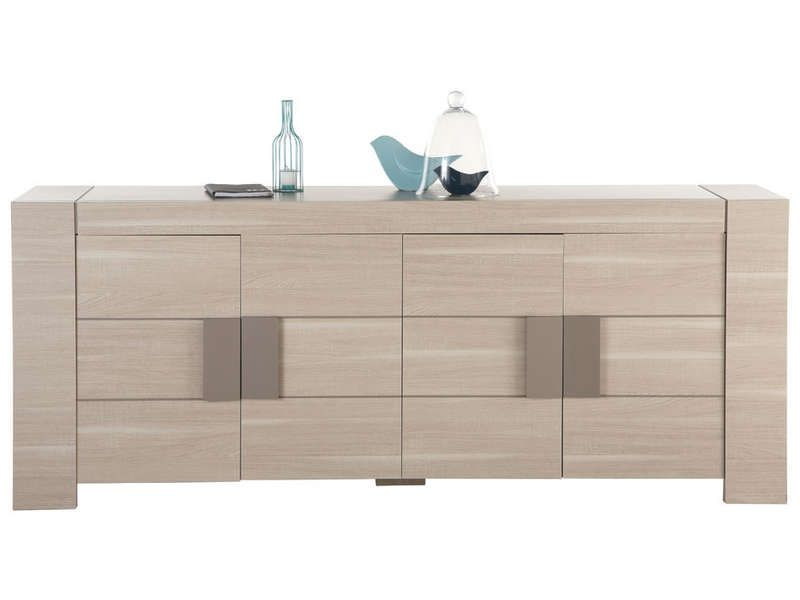 Buffet portes atlanta coloris chne clair prix promo buffet for Meuble demeyere conforama