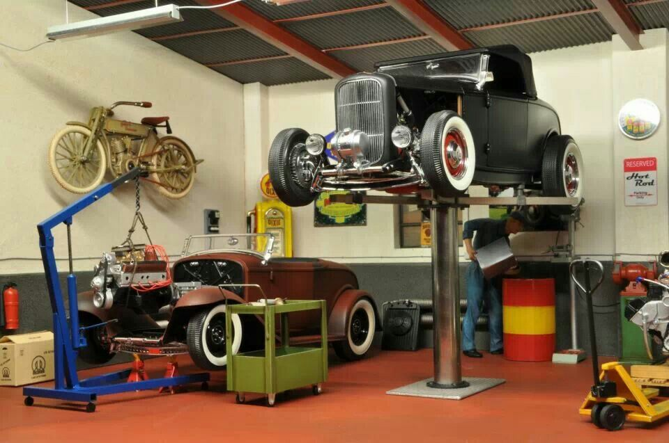 Garage miniatures pinterest dioramas model car and for 1 1 2 kit di garage per auto