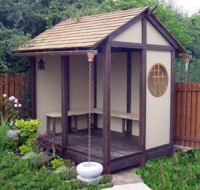 Summer house style shed