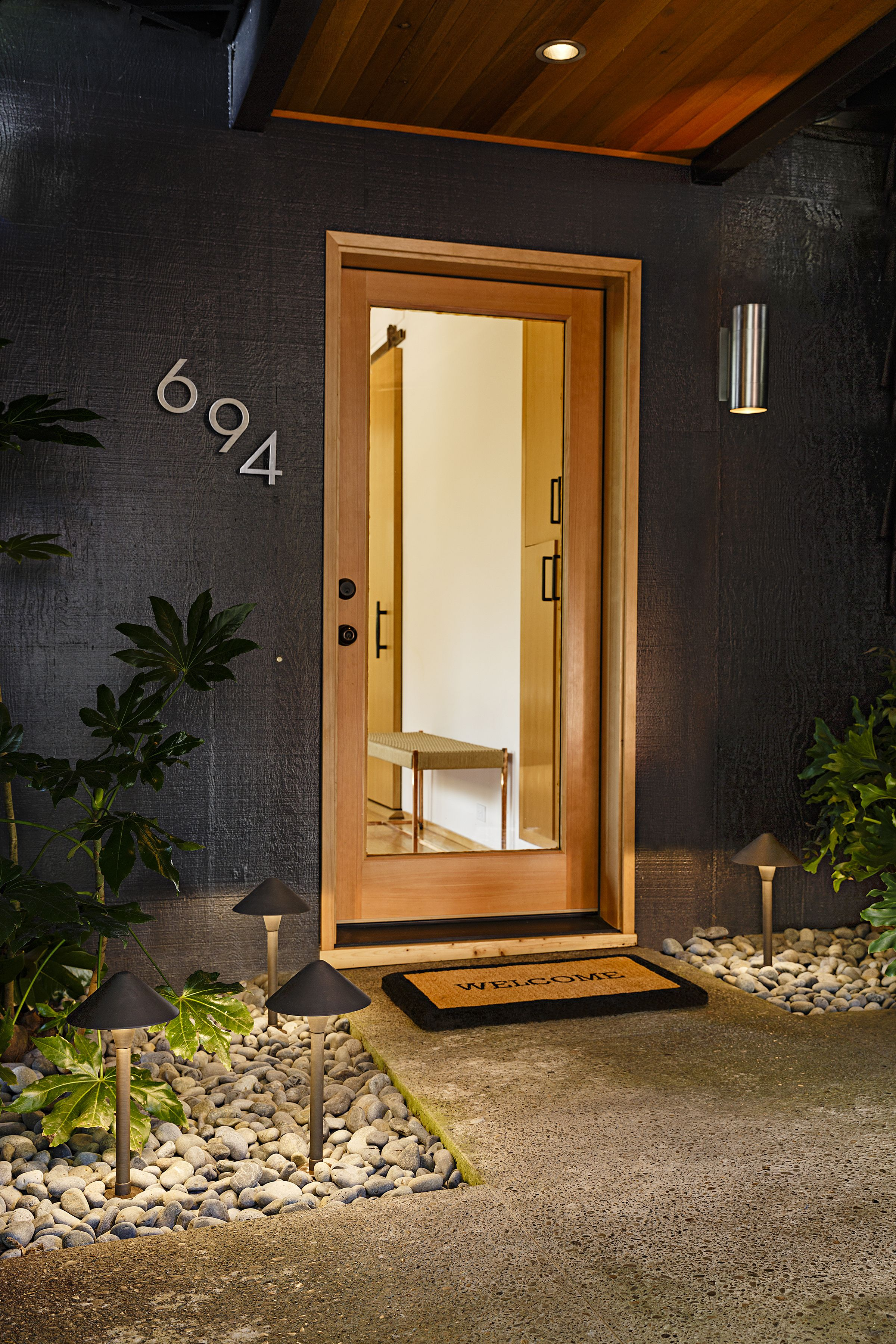 Entrance That warm welcoming glow Curb Appeal Pinterest