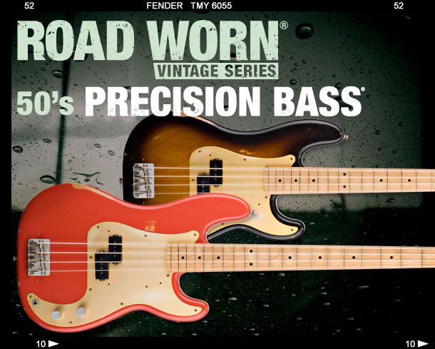 Fender Road Word Vintage Series 50's Precision Bass