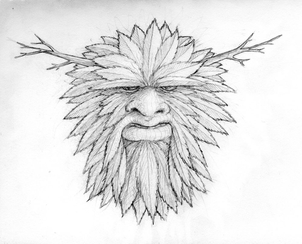 Green Man Drawing Google Search Green Man Line Drawing Colorful Pictures