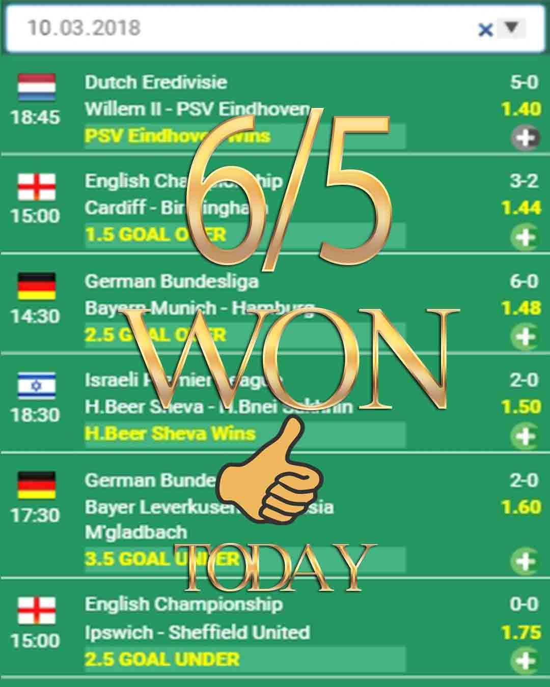 Betting 6/5 WON betting tips, betting expert, betting