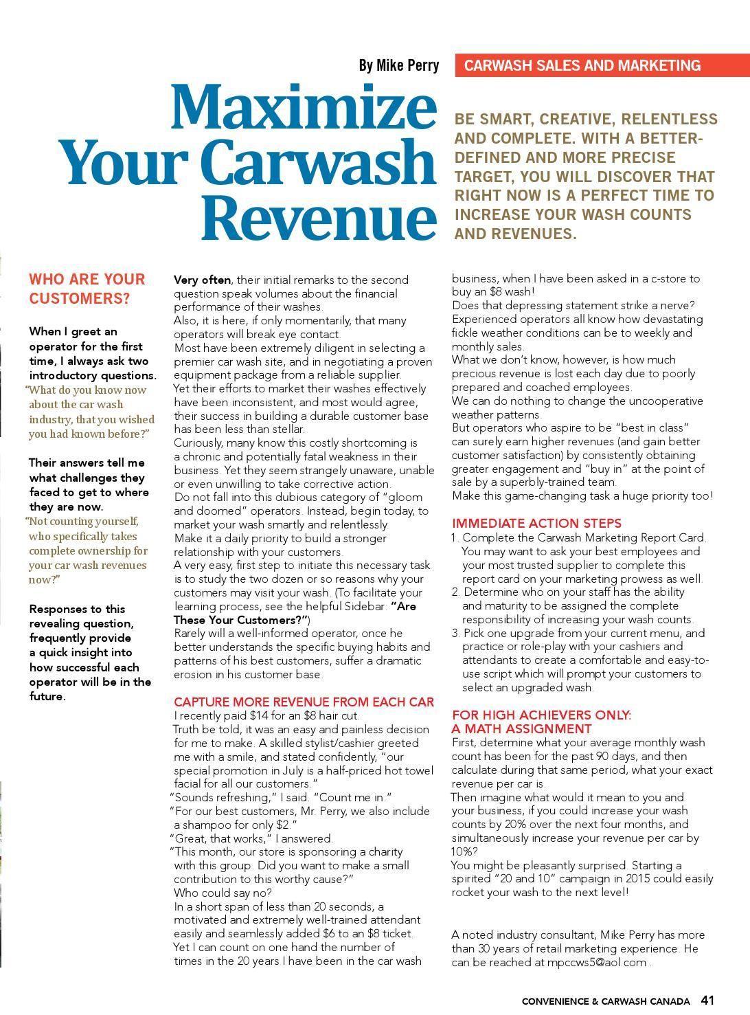 Maximize Carwash Revenue