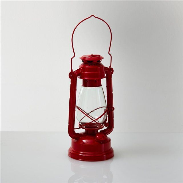 Lanterne, lampe tempête, Ilio La Redoute Interieurs (Rouge)