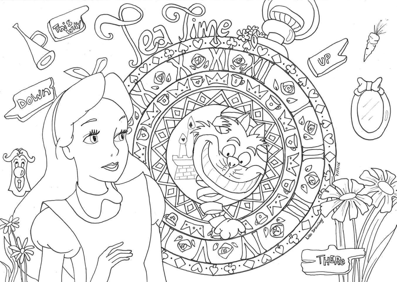 18+] Coloriage Adulte Disney A Imprimer