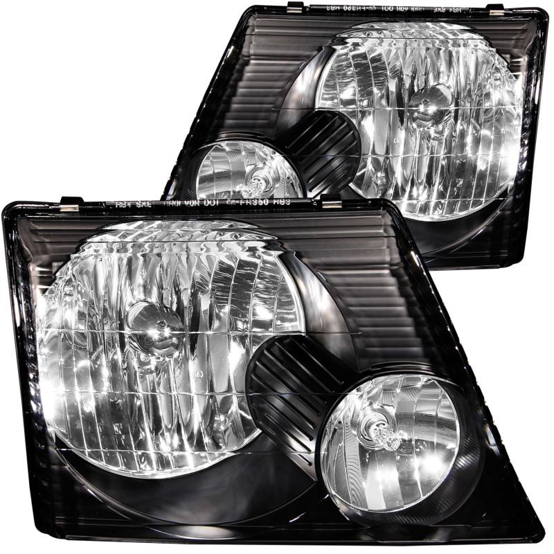 02-05 Ford Explorer Chrome Headlight Signal Corner Lamp Left+Right Pair Assembly