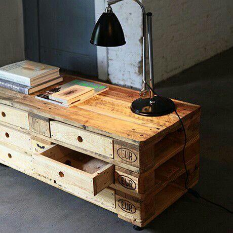 Biurko z palet Besser Wohnen Pinterest Möbel, Palletten und - wohnzimmer ideen alt
