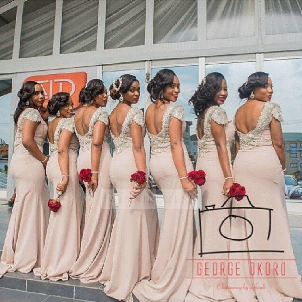 Crew neckline cap sleeve sexy long pink open back bridesmaid dress crew neckline cap sleeve sexy long pink open back bridesmaid dress ombrellifo Gallery